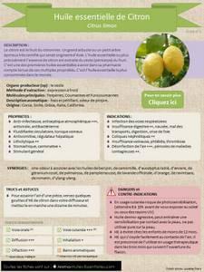 Essentiel De Citron : huile essentielle de citron fiche technique